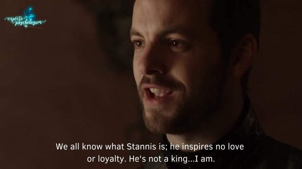 Referent power - Renly Baratheon - Stannis is not a king. I am.